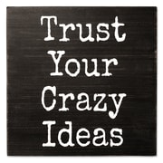 Lawrence Frames Trust Your Crazy Ideas 8X8 Wood Box Sign (637788LK)