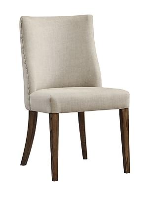 Coast to Coast Textured Fabric Dining Chair, Natural And Medium Brown, 2/Pk (13649)