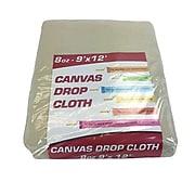 Monarch Brands Drop Cloths, Canvas, Floor Protectant, 8 oz, 9' x 12' (DROP-9X12-8)