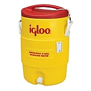 Igloo® 14.5 in (L) x 20.38 in (H) Yellow Plastic Rugged Duty Beverage Cooler with Spigot, 5 gal
