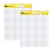 "Post-it®, Easel Pad, 25"" x 30"", Faint Blue Grid, White, 2/PK, (560)"