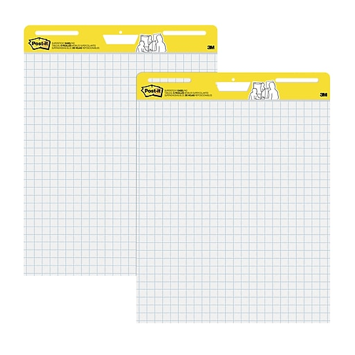 Post it easel pad 25 x 30 faint blue grid white 2 pk 560