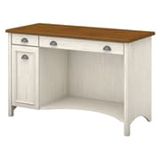 "Bush Furniture Stanford Computer Desk with Drawers, 48""W Antique White/Tea Maple (WC53218-03)"