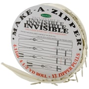 Sullivans Cream Sullivans Make-A-Zipper Kit Invisible 4-1/2yd(s) (960I-74)