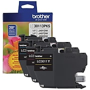 Brother LC3011 Cyan/Magenta/Yellow Standard Yield Ink Cartridge, 3/Pack