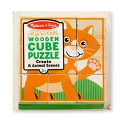 Melissa & Doug My First Wooden Cube Puzzle Animals (3769)