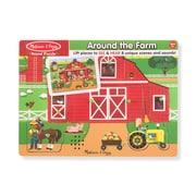 Melissa & Doug Around the Farm Sound Wooden Puzzle (32800)
