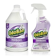 OdoBan Disinfectant Odor Eliminator Ready-to-Use 32 oz. Spray and 1 Gallon Concentrate, Lavender Scent (OBLTG-STP)