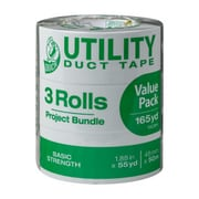 "Duck Tape® Brand Basic Strength Duct Tape, Silver, 1.88"" x 55 Yards, 3 Pack (241638)"