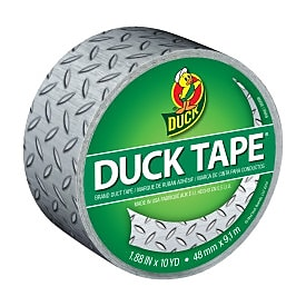 Duck Tape® Brand Printed Duct Tape, Diamond Plate, 1.88