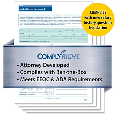 ComplyRight State-Compliant Job Application, Vermont (A2179VT)