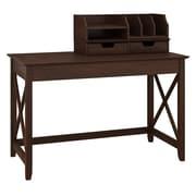 Bush Furniture Key West 48W Writing Desk with Desktop Organizers, Bing Cherry (KWS005BC)