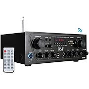 Pyle Home Compact Bluetooth Audio Stereo Receiver with FM Radio(PTA24BT)