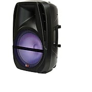 QFX PBX-BF12 Portable Party Speaker with Bluetooth/USB and FM Player, Refurbished