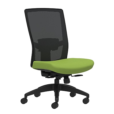 Workplace Series 500 Fabric Task Chair, Pear, Adjustable Lumbar, Armless, Synchro-Tilt with Seat Slide Seat Control (53621)
