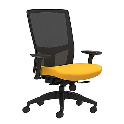 Workplace Series 500 Fabric Task Chair, Goldenrod, Integrated Lumbar, 2D Arms, Synchro-Tilt with Seat Slide (53608)