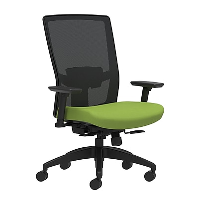 Workplace Series 500 Fabric Task Chair, Pear, Adjustable Lumbar, 2D Arms, Synchro-Tilt with Seat Slide (53609)