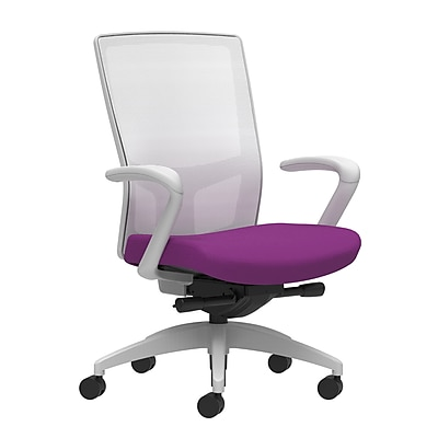 Workplace Series 500 Fabric Task Chair, Amethyst, Integrated Lumbar, Fixed Arms, Advanced Synchro-Tilt Seat Control (53578)
