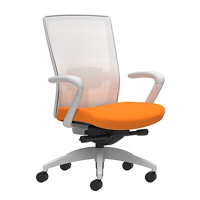 Workplace Series 500 Fabric Task Chair, Apricot, Adjustable Lumbar, Fixed Arms, Advanced Synchro-Tilt Seat Control (53579)