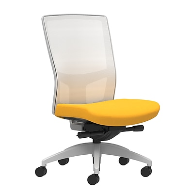 Workplace Series 500 Fabric Task Chair, Goldenrod, Integrated Lumbar, Armless, Advanced Synchro-Tilt Seat Control (53564)