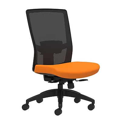 Workplace Series 500 Fabric Task Chair, Apricot, Adjustable Lumbar, Armless, Synchro-Tilt with Seat Slide Seat Control (53613)