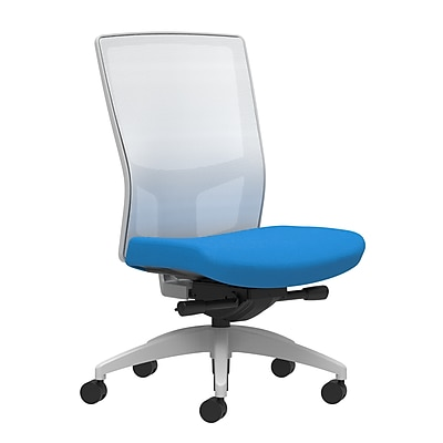 Workplace Series 500 Fabric Task Chair, Cobalt, Integrated Lumbar, Armless, Advanced Synchro-Tilt Seat Control (53562)