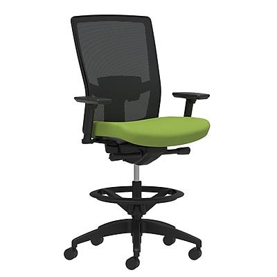 Workplace Series 500 Fabric Stool, Pear, Adjustable Lumbar, Height & Width Adjustable Arms, Synchro-Tilt Seat Control (53838)