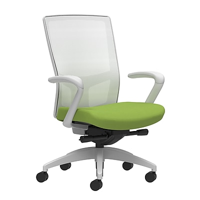 Workplace Series 500 Fabric Task Chair, Pear, Integrated Lumbar, Fixed Arms, Advanced Synchro-Tilt Seat Control (53588)