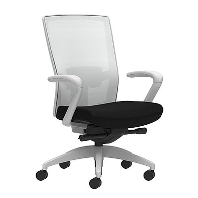 Workplace Series 500 Fabric Task Chair, Black, Adjustable Lumbar, Fixed Arms, Advanced Synchro-Tilt Seat Control (53589)