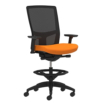 Workplace Series 500 Fabric Stool, Apricot, Integrated Lumbar, 2D Arms, Synchro-Tilt (53831)