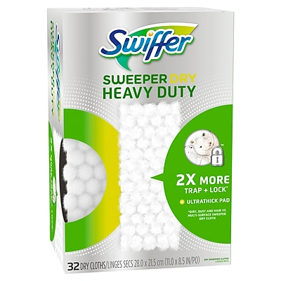 Swiffer Sweeper Heavy Duty Dry Disposable Sweeping Cloths, Pack of 32 (77198)