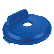 Rubbermaid Bottles/Cans Recycling Lid for 32 Gallon BRUTE® Containers, Blue (2018163)