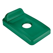 Rubbermaid Rectangle Recycling Lid for Plastic 16 & 23 Gallon Slim Jim® Recycling Containers, Green (2018257)