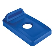 Rubbermaid Rectangle Recycling Lid for 16 & 23 Gallon Slim Jim® Recycling Containers Plastic, Blue (2018258)