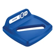 Rubbermaid Paper Square Recycling Lid for 23 Gallon Untouchable® Recycling Containers Blue (2018360)
