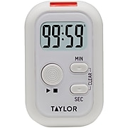 Taylor Precision Products Digital Display Flashing Light Timer, White (5879)
