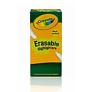 Crayola® Erasable Dual-Ended Highlighter, 12/Pack (69-6105)