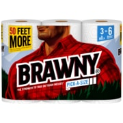 Brawny® Pick-a-Size® Paper Towels, 2-Ply, White, 130 Sheets/Roll, 12 XL Rolls/Carton