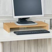 Way Basics Eco Friendly Computer Monitor Stand, Natural Wood Grain