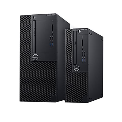 Dell OptiPlex 3060 44DHX Desktop Computer, Intel Core i3, 500GB SSD, 4GB RAM, Windows 10 Pro, Intel Integrated Graphics