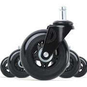 Lifelong Office Chair Casters Replacement Chair Wheels, Rollerblade Style, 5/Set (BL2376)