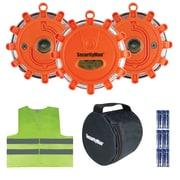 SecurityMan LED Emergency Road Flare Safety Kit, 3 Pack, Orange (MEFLARE3)