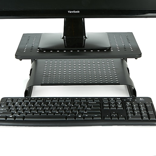 Mind Reader Monitor Stand Riser 2 Tier Ventilated Metal