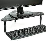 Mind Reader Monitor Stand Riser, Metal Triangle Adjustable, Ventilated Metal for Computer, Laptop, Monitor, Black (TRISTAND-BLK)