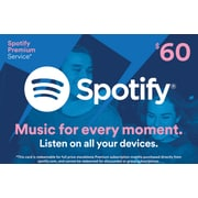 Spotify Gift Card $60 (Email Delivery) (86734B6000)