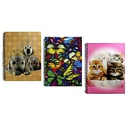 """Inkology Lenticular 1 Subject Notebook, College Ruled, Assorted, 10.5"""" x 8"""", 12 Pack (3090)"""