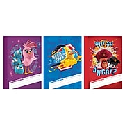 """Angry Birds Composition Book, Wide Ruled, Assorted, 9.5"""" x 7.5"""", 12 Pack (7289)"""