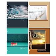 "Inkology Inspired Journey 2 Pocket Portfolios, Assorted, 11.75"" x 9.5"", 24 Pack (5070)"