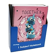 """Angry Birds 1 Subject Notebook, College Ruled, Assorted, 10.5"""" x 8"""", 12 Pack (7258)"""