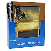 """Inkology Inspired Journey 1 Subject Notebook, College Ruled, Assorted, 10.5"""" x 8"""", 12 Pack (5087)"""